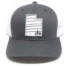 Load image into Gallery viewer, Skye Mountain Co - Utah 3 Trees Hat  Trucker Hat - Snapback Mesh and FlexFits