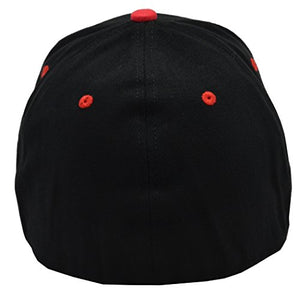 Incrediblegifts NRA 100% Cotton Black Red Hat Red Embroidered
