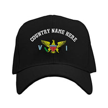 Load image into Gallery viewer, Custom Baseball Hat Virgin Island Flag Seal Embroidery Country Structured Cap