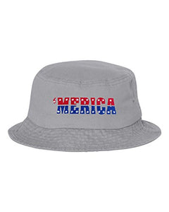 Go All Out Adult Merica USA Pride America Embroidered Bucket Cap Dad Hat