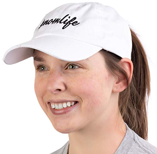 #Momlife  Ponytail Dad Hat Funny Cute Mom Life Mommy Mother Pony Tail Low Cap