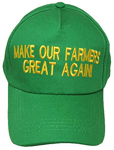 Make Our Farmers Great Again Green! Donald Trump 100% Cotton Embroidered Hat Cap
