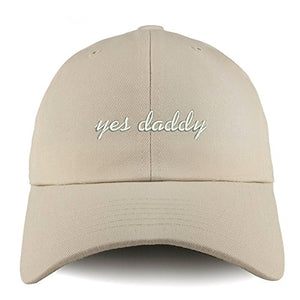 Trendy Apparel Shop Yes Daddy Embroidered Low Profile Soft Cotton Dad Hat Cap