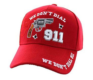 Artisan Owl We Don't Dial 911 Hat - Gun Rights Self Defense 2nd Amendment Gift - Embroidered Cap