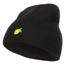 Load image into Gallery viewer, e4Hatscom Mini Lemon Embroidered Short Beanie