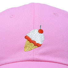 Load image into Gallery viewer, DALIX Ice Cream Dad Hat Cotton Twill Baseball Cap Embroidered Hats