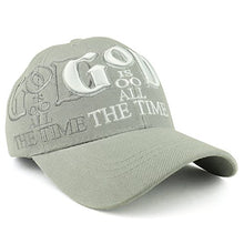 Load image into Gallery viewer, Trendy Apparel Shop God is Good All The Time Christian Theme Embroidered Adjustable Baseball Cap