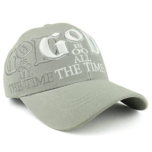 Trendy Apparel Shop God is Good All The Time Christian Theme Embroidered Adjustable Baseball Cap