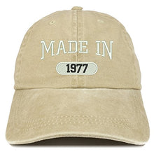 Load image into Gallery viewer, Trendy Apparel Shop Made in 1977 Embroidered 43rd Birthday Washed Baseball Cap
