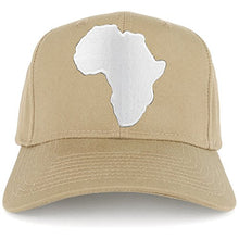 Load image into Gallery viewer, Solid White African Map Embroidered Iron on Patch Adjustable Baseball Cap