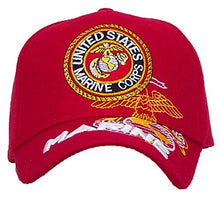 Load image into Gallery viewer, Ruffin US Marines 3D Embroidered Marine Ballcap Adjustable Hat  - Red