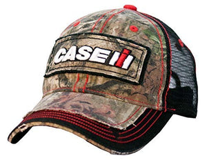 Case IH Youth Distressed Camo Mesh Back Hat - Officially Licensed