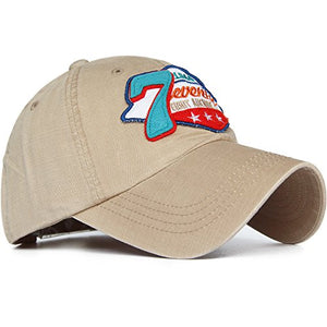 REDSHARKS Washed Cotton Baseball Cap Trucker Hat Embroidered Patch