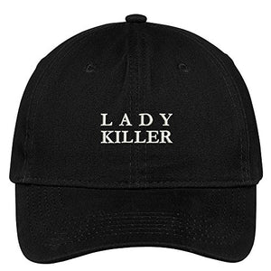 Trendy Apparel Shop Lady Killer Embroidered Low Profile Soft Cotton Brushed Baseball Cap