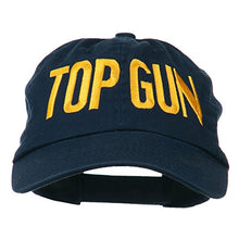 Load image into Gallery viewer, Top Gun Embroidered Low Profile Pet Cap - Navy OSFM