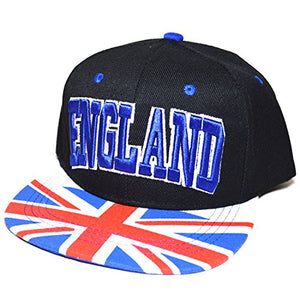 AblessYo Country Flag National Embroidered Snapback Flat Bill Cap Baseball Hat AYO3024