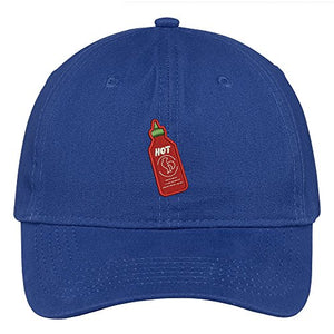 Trendy Apparel Shop Hot Sauce Embroidered 100% Quality Brushed Cotton Baseball Cap