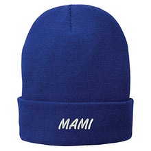 Load image into Gallery viewer, Trendy Apparel Shop Mami Embroidered Winter Cuff Long Beanie