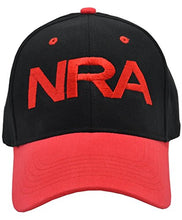 Load image into Gallery viewer, Incrediblegifts NRA 100% Cotton Black Red Hat Red Embroidered