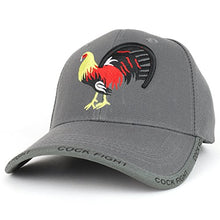 Load image into Gallery viewer, Trendy Apparel Shop Cock Fight Rooster Embroidered Structured Adjustable Baseball Cap