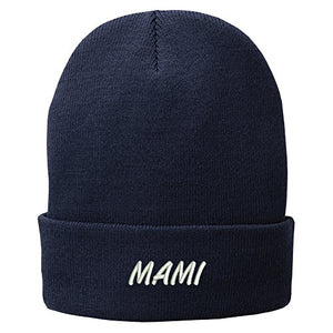 Trendy Apparel Shop Mami Embroidered Winter Cuff Long Beanie