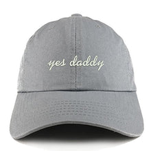 Load image into Gallery viewer, Trendy Apparel Shop Yes Daddy Embroidered Low Profile Soft Cotton Dad Hat Cap
