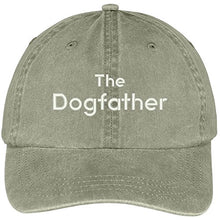 Load image into Gallery viewer, Trendy Apparel Shop The Dogfather Embroidered Washed Soft Cotton Adjustable Baseball Cap