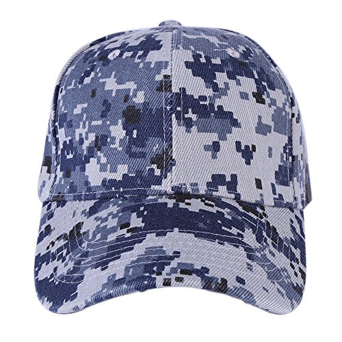 Bornbayb Men's Cotton Embroidered Flat Brim Hat Mesh Baseball Cap Cool Sporting Hat