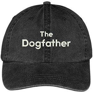 Trendy Apparel Shop The Dogfather Embroidered Washed Soft Cotton Adjustable Baseball Cap