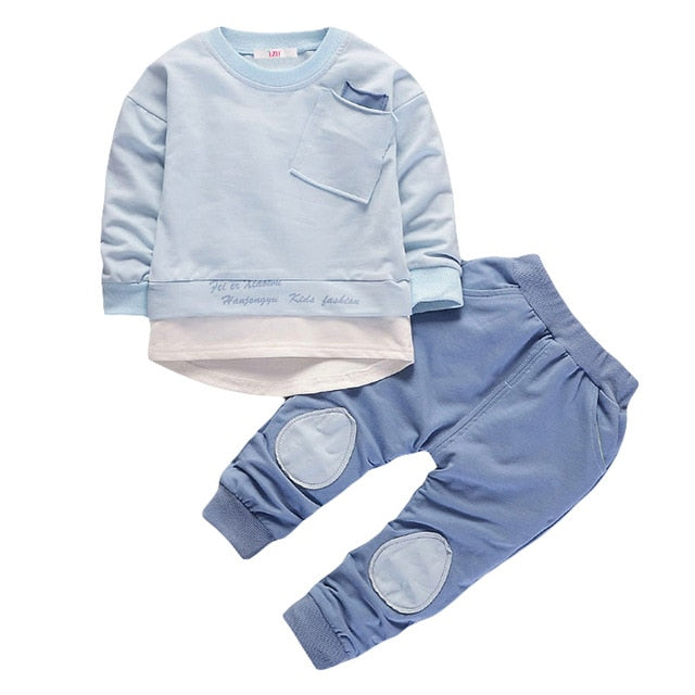 Children Clothing 2019 Autumn Winter Toddler Baby Boys Clothes 2pcs Outfit Kids Clothes Girls Sport Suit For Boys Clothing Sets - morexial