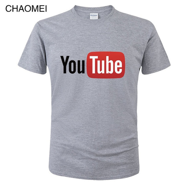 Summer Funny Male T-Shirt Youtube Printed - morexial