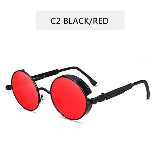 Classic Gothic Steampunk Sunglasses Sunglasses Men Women Brand Designer  Vintage Round Glasses  Fashion Driving Goggle UV400 - morexial