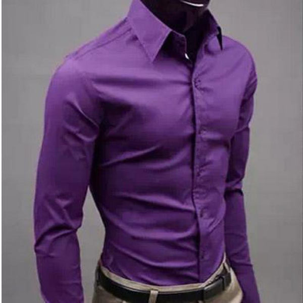 European and American fashion candy color long-sleeved shirt - morexial