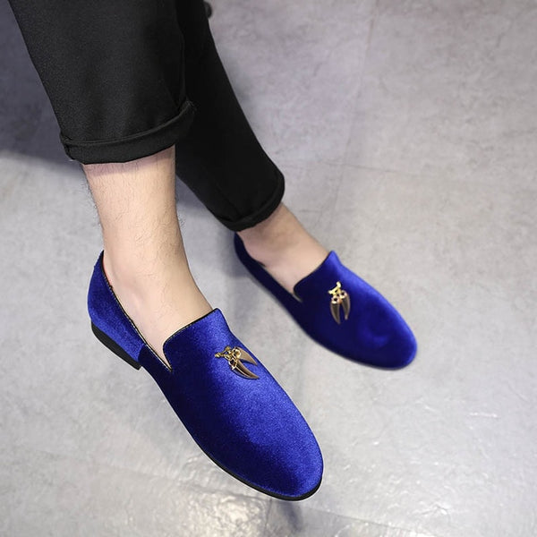 2020 Hot Sale Men Sickle Suede Casual Shoes Flat Slip-on Dress Shoes Large Size Pointed Toe Solid Color Wedding Loafers - morexial
