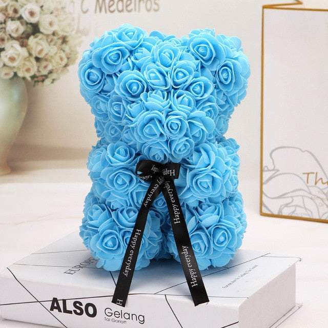 Wholesale Big Teddy Rose Bear With Box Luxurious Bear Of Roses Bear Flowers Artificial Christmas Valentine Gift Dropshipping - morexial