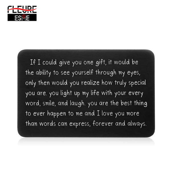 Wallet Insert Card Gifts for Him Men Husband Valentine From Wife Girlfriend Boyfriend Anniversary Birthday Gift for Groom Fiance - morexial