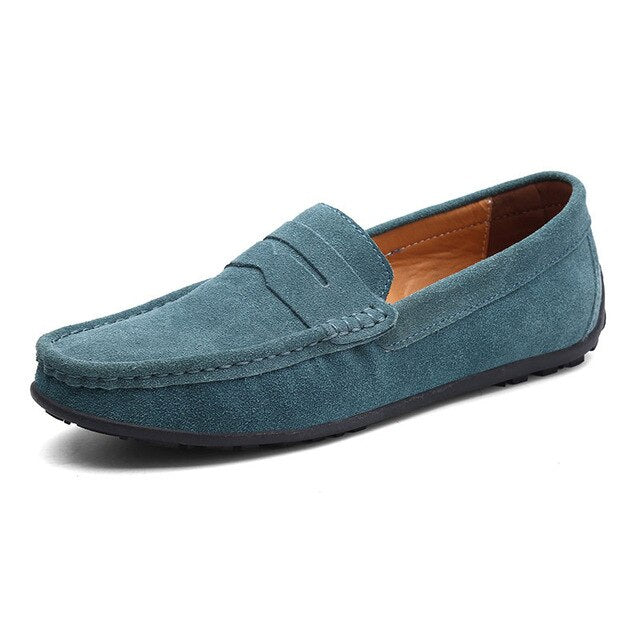 Slip On Mens Loafers Leather Suede Shoes Men Casual Mocasines Hombre Loafer Boat Shoes Lofer Man Driving Summer Loffers White 47 - morexial