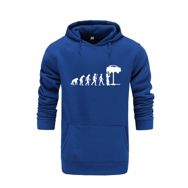 New top quality cotton Auto Mechaniker Mechanic Car printed men hoodies - morexial