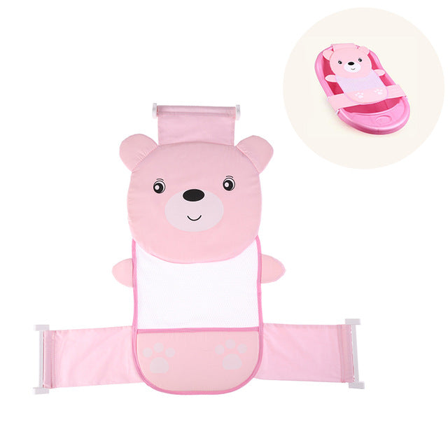 Portable Baby Shower Air Cushion Bed Babies Infant Baby Bath Pad Non-Slip Bathtub Mat Newborn Baby Safety Security Bath Seat - morexial