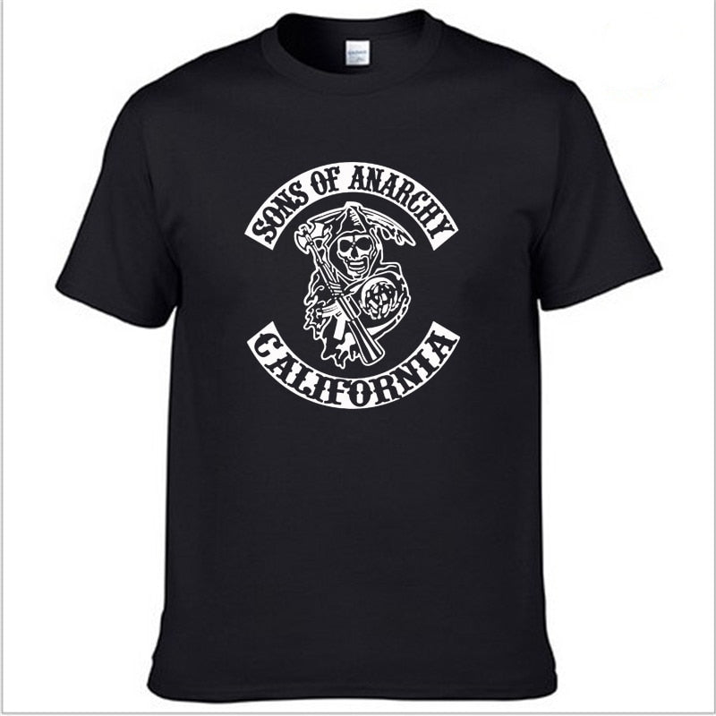 SOA Sons of anarchy the child Fashion SAMCRO Print T-Shirt - morexial