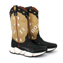 Load image into Gallery viewer, Texas Robot Sneaker Western Cowboy Tall Gold Shimmer Boots