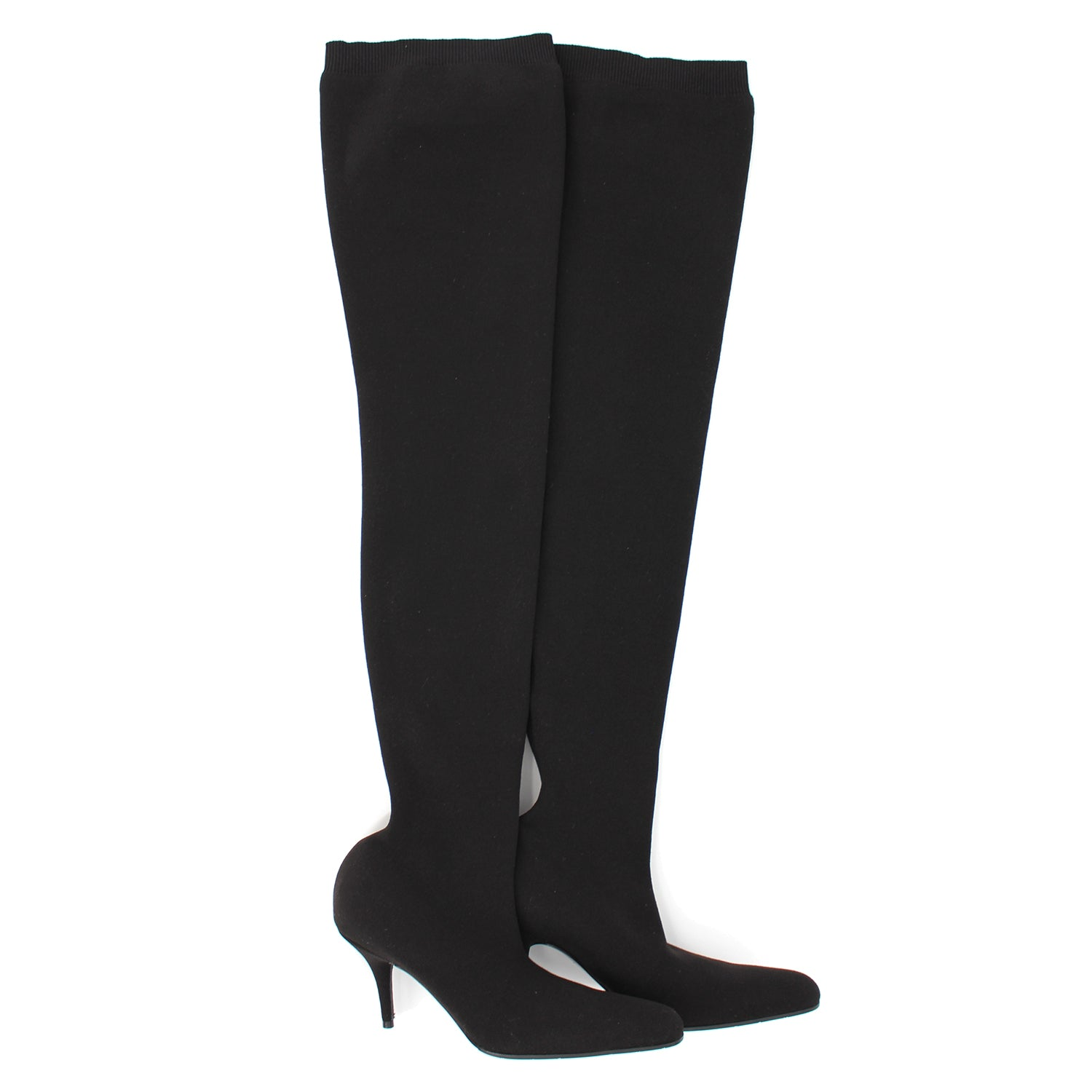 NEW Balenciaga Black Over The Knee Socks Boots 37