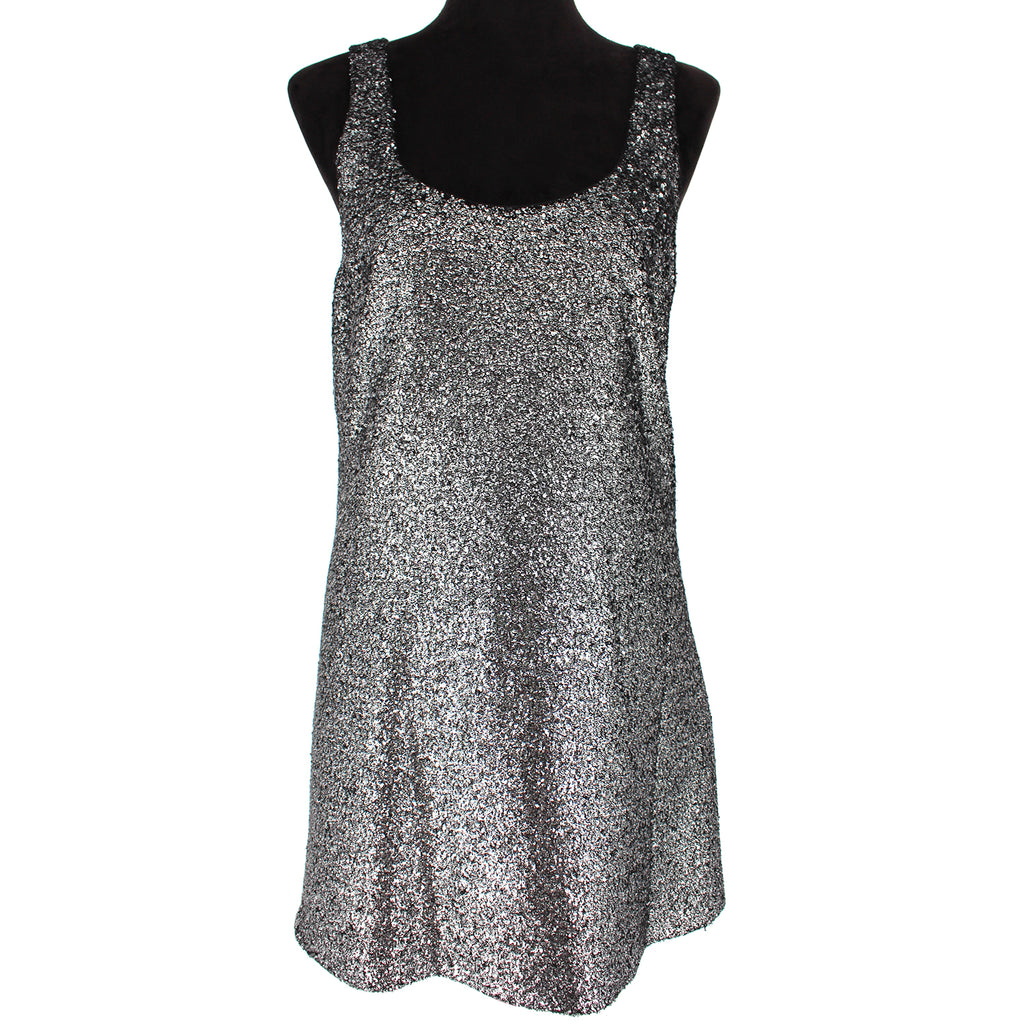 NWT Boutique Moschino Metallic Coated Boucle Dress 6