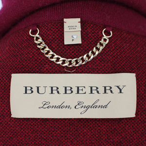 Burberry Check Cardigan Coat