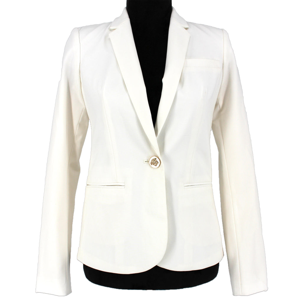Versace Silk Medusa Button Blazer