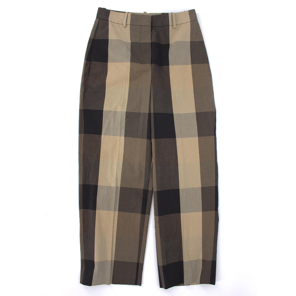 Thoery High-Rise Check Pants