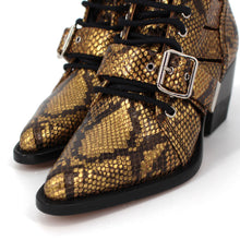 Load image into Gallery viewer, Rylee Python Caged Booties