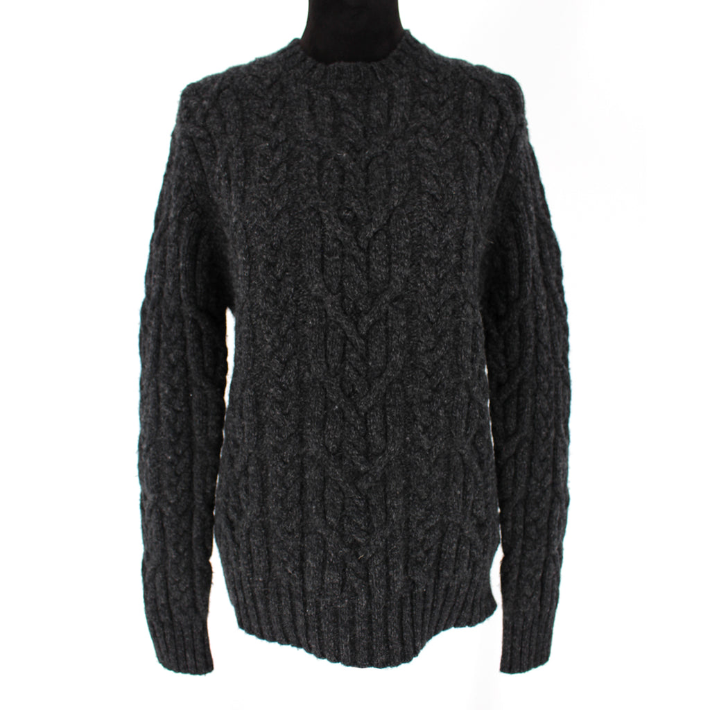 Maje Cable Knit Wool Sweater