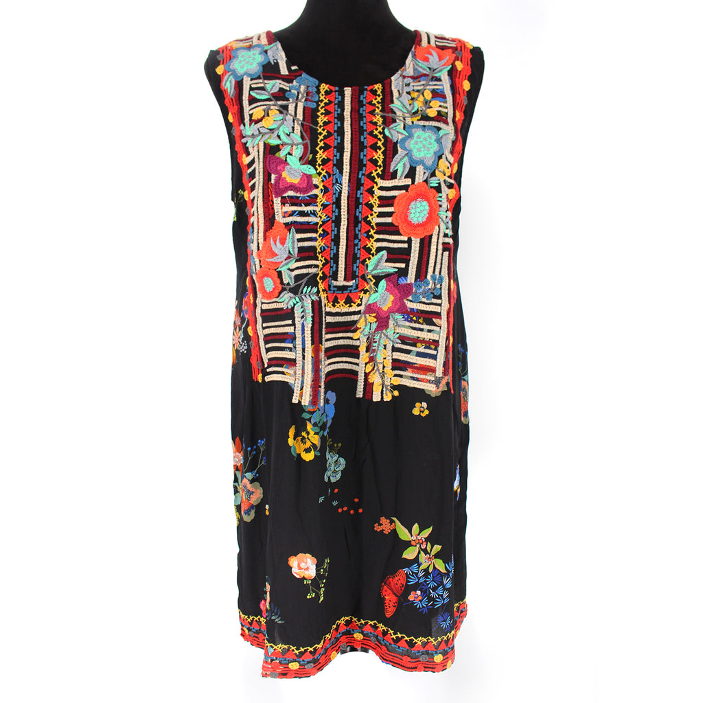 Johnny Was Biya Embroidered Dress