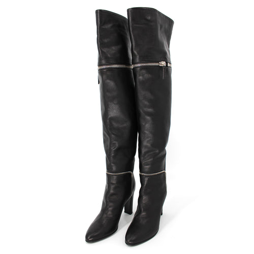 Bimba Zipper Leather Boots